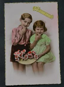 Děti - dívka - chlapec - móda