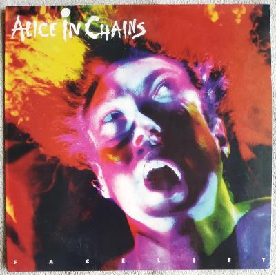 LP ALICE IN CHAINS - FACELIFT (1990/2017) EU RE White Vinyl MINT ,TOP!