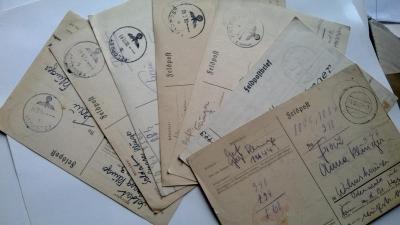 7x Feldpost/Polní pošta 1941/2 z Východní fronty (Rusko) do Německa