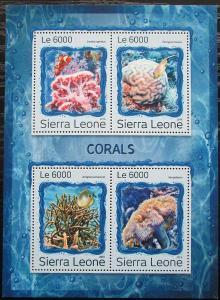 Sierra Leone 2016 Korály Mi# 7933-36 Kat 11€ 2535