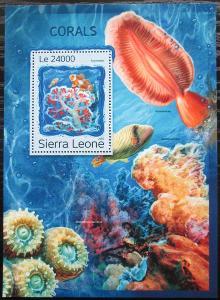 Sierra Leone 2016 Korály Mi# Block 1119 Kat 11€ 2535