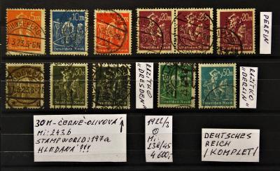 Deutsches Reich/1922-3/KOPLET-včetně 243b/Mi:238-45/raz.(popis foto).