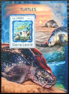 Sierra Leone 2016 Želvy Mi# Block 1121 Kat 11€ 2535