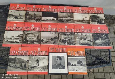 16x Starý retro časopis - Svět motorů + výročního s úmrtím Stalina