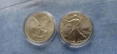 Stříbrná investiční mince American Eagle 1 Oz - 2021