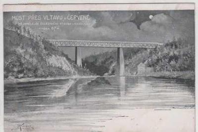 Červená nad Vltavou, železniční most přes Vltavu