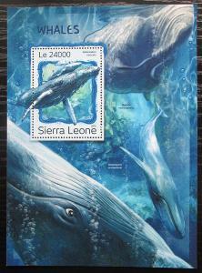 Sierra Leone 2016 Velryby Mi# Block 1130 Kat 11€ 2536