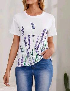 Nové! Krásné  levandulové tričko vel. M/38-40