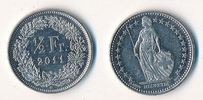 Švýcarsko 1/2 frank 2011