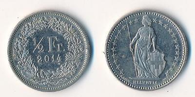 Švýcarsko 1/2 frank 2014