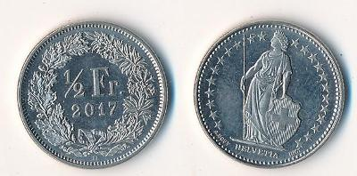 Švýcarsko 1/2 frank 2017