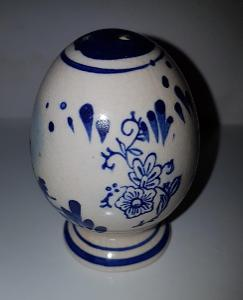 Solnička-pepřenka s modrým malováním výška 7,5 cm