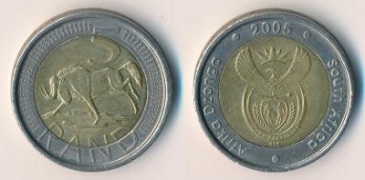 Jižní Afrika 5 randů 2005