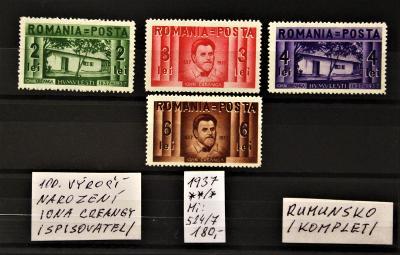 RUMUNSKO/100. výročí.../1937/Mi:524-7**/*(popis viz. foto).