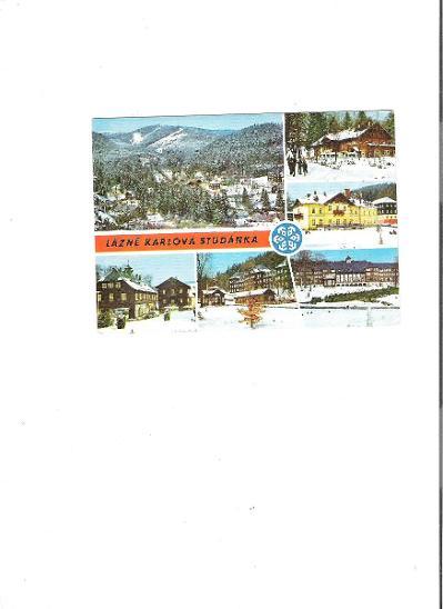 razi 2/ pohlednice VF prošla- lazně karlova studanka - Pohlednice
