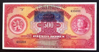 500 K 1929, F, přetisk SŠ, SPECIMEN, moc hezký stav !!!