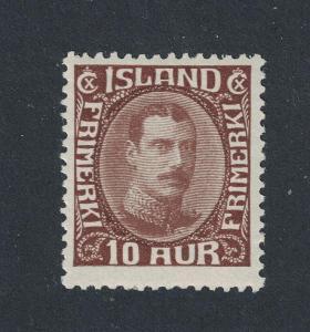 Island 1931 Mi#161, slabá stopa *, 420€