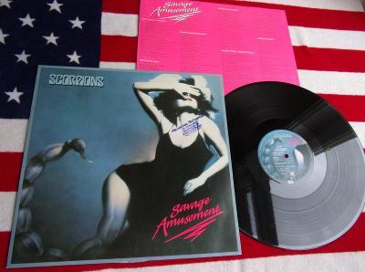 💥 LP: SCORPIONS - SAVAGE AMUSEMENT, West Germany pressing 1988
