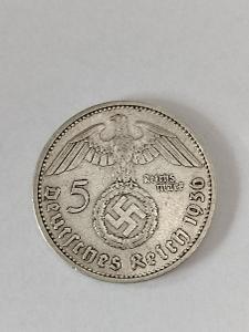 Stříbrná 5 Marka 1936 A
