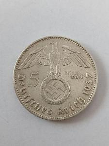 Stříbrná 5 Marka 1937 J