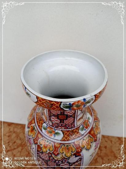 *** Luxusní porcelánová malovaná japonská dekorativní váza *** - Porcelán