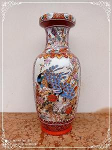 *** Luxusní porcelánová malovaná japonská dekorativní váza ***