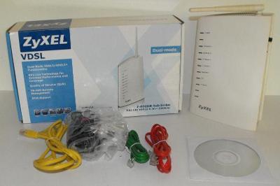 VDSL wifi N modem ZyXEL P-870HN-53b s externí anténou, záruka 1 měsíc