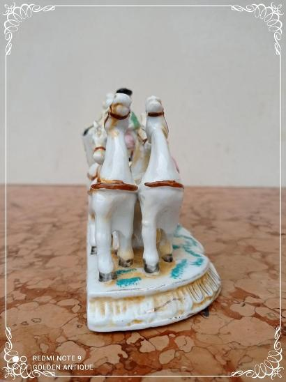 *** Nádherné porcelánové malované koňské spřežení *** - Porcelán
