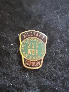 Odznak XII. ETAPA ZÁVOD MÍRU 1977 SOKOLOV