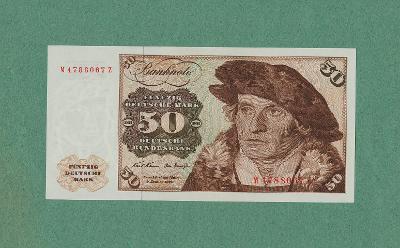 💎 NĚMECKO  -  50 marek,1970  -  vzácná ! -  špičkový stav UNC 💎