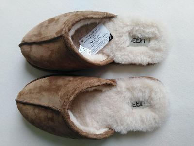 Kožené pánské pantofle  vel. UK8/EU42