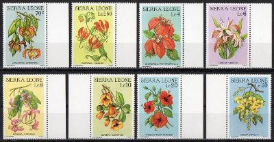 Sierra Leone-Flóra 1986**  Mi.901-908 / 11 €
