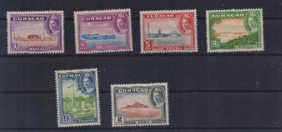 Holandské Curacao 1943 ** Wilhelmina domáce moívy komplet mi. 198-203