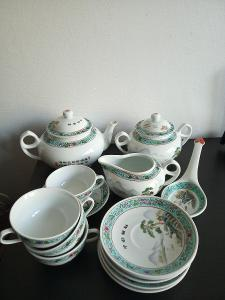 čínský porcelánový čajový servis
