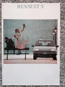 RENAULT 5 - 1989 -  prospekt