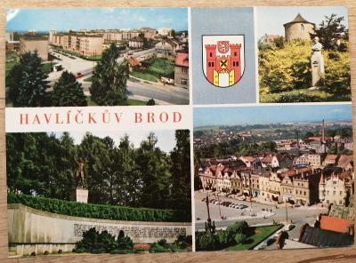 Pohlednice okénková Posázaví 1970 - Havlíčkův Brod