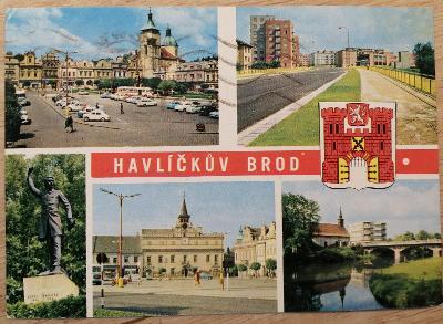Pohlednice okénková Posázaví 1974 - Havlíčkův Brod