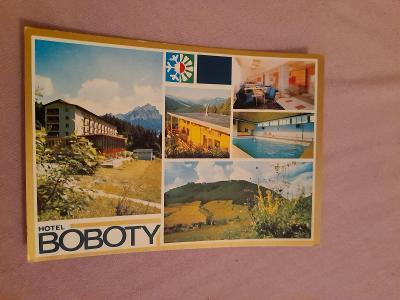 Pohlednice HOTEL BOBOTY - MALÁ FATRA,neprošlé poštou