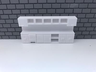 Pracovní stul rovný Diorama/1/64 (matchbox,hw atd)