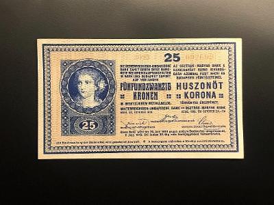 25 Koruna 1918 sér. 3023 bez rastru Nádherný stav 1+ RAKOUSKO-UHERSKO