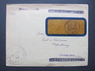 c5382 Graslitz Kraslice Finanzamt 1939 úřední Sudety