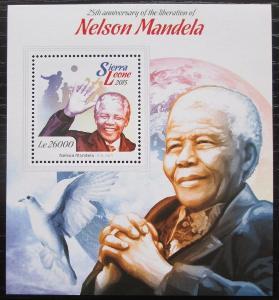 Sierra Leone 2015 Nelson Mandela Mi# Block 771 Kat 12€ 2542