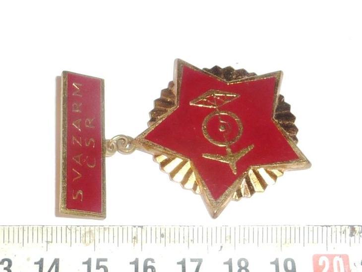 Vojenský  ODZNAK .. MEDAILE  vyznamenání  SVAZARM  .. číslováno 1086 - Faleristika