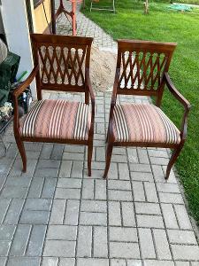 Židle / Křeslo - polstrovaná - 2 kusy