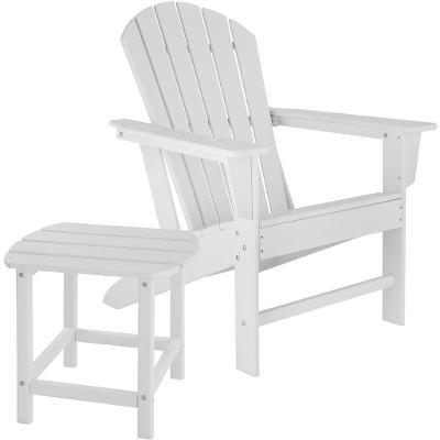 tectake 404174 zahradní židle janis s odkládacím stolkem - bílá