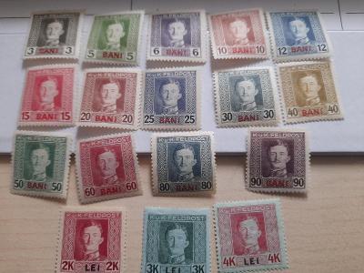 ANK 1917 Polní pošta Rumunsko   č 1-17  *  od korunky!!!!
