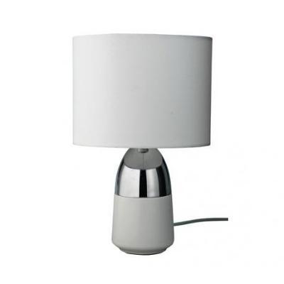 STOLNÍ DOTYKOVÁ LAMPA BÍLÁ + CHROM 9913/V PPP