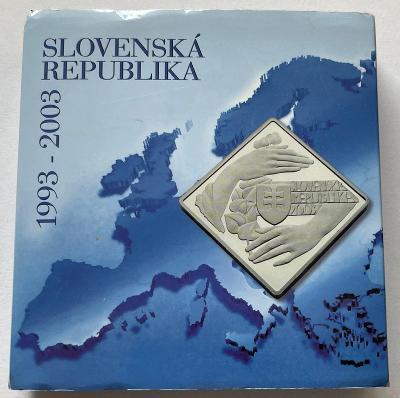 1000 Sk Vznik Slovenskej republiky - 10. výročie 2003 Proof