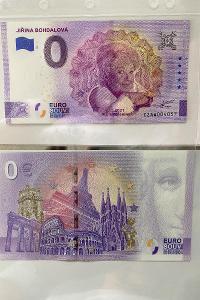 0 Euro Souvenir bankovka JIŘINA BOHDALOVÁ - pamětní sběratelská edice