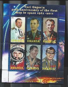 Rwanda-kosmos-  Jurij Alexejevič GAGARIN